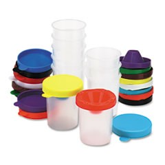 1No-Spill Paint Cups, 10/Set