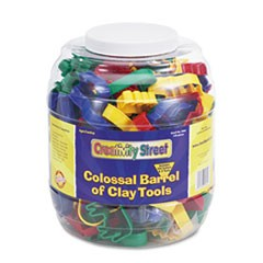 Colossal Barrel of Clay Tools, 144 Cutters in 24 Designs, Five Tools in Each