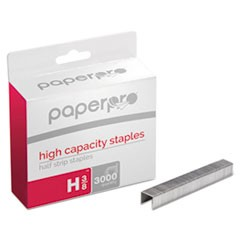 "Premium High-Capacity Staples, 0.38"" Leg, 0.5"" Crown, Steel, 3,000/Box"