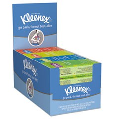 On The Go Packs Facial Tissues, 3-Ply, White, 10 Sheets/Pack, 16 Packs/Box, 12 Boxes/Carton