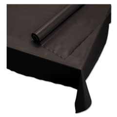 "1Plastic Roll Tablecover, 40"" x 100 ft, Black"
