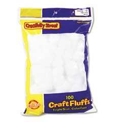 Craft Fluffs, White, 100/Pack