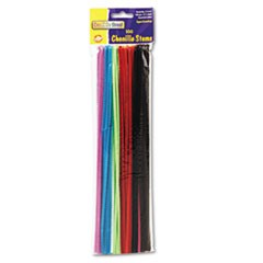 "Creativity Street Chenille Stems, Assorted Colors, 12"" x 4 mm, 100 Pieces"