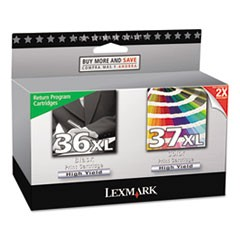 18C2249 (36XL, 37XL) Return Program High-Yield Ink, 500 Page-Yield, Black, 2/Pk