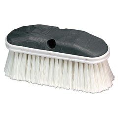 "Vehicle Wash Brush, White, 9"" x 2 3/4"", 12/Carton"