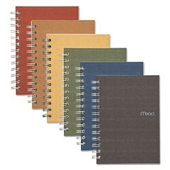 Recycled Notebook, 1 Subject, Medium/College Rule, Assorted Color Covers, 7 x 5, 80 Sheets