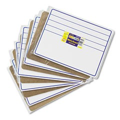 Student Dry-Erase Boards, 12 x 9, Blue/White, 10/Set