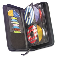 1CD/DVD Wallet, Holds 72 Discs, Black