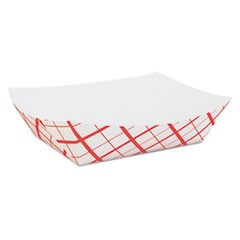Paper Food Baskets, Red/White Checkerboard, 5 lb Capacity, 500/Carton