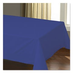 "Cellutex Table Covers, Tissue/Polylined, 54"" x 108"", Navy Blue, 25/Carton"