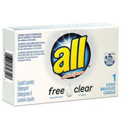 Free Clear HE Liquid Laundry Detergent, Unscented, 1.6 oz Vend-Box, 100/Carton