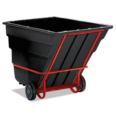 Rotomolded Tilt Truck, Rectangular, Plastic, 2300-lb Cap., Black