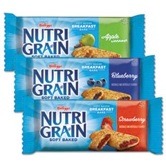 Nutri-Grain Soft Baked Breakfast Bars, Asstd: Apple, Blueberry, Strawberry, 1.3 oz Bar, 48/Carton