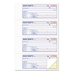 Money and Rent Receipt Books, 2-3/4 x 7 1/8, Two-Part Carbonless, 200 Sets/Book
