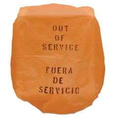Out of Service Bonnet, 17 x 20, Orange, 50/Carton