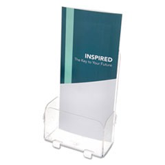 Foldem-Up 6-Pocket Literature Holder, Leaflet, 4.38w x 2.25d x 7.25h, Clear