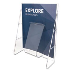 Stand-Tall Wall-Mount Literature Rack, Magazine, 9 1/8 x 2 3/4 x 11 3/4, Clear