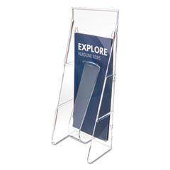 Stand-Tall Wall-Mount Literature Rack, Leaflet, 4.56w x 3.25d x 11.88h, Clear
