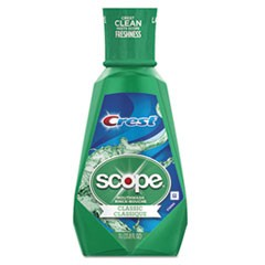1+ Scope Mouth Rinse, Classic Mint, 1 L Bottle, 6/Carton