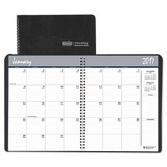 Recycled Ruled Monthly Planner, 14-Month Dec.-Jan., 8 1/2 x 11, Black, 2016-2018