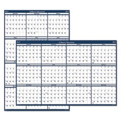 Recycled Poster Style Reversible/Erasable Yearly Wall Calendar, 24 x 37, 2017