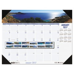 Recycled Coastlines Photographic Monthly Desk Pad Calendar, 22 x 17, 2017