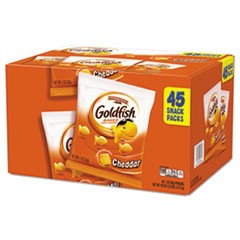 Goldfish Crackers, Cheddar, 1 oz Bag, 45/Carton