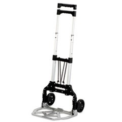 Stow and Go Cart, 110 lb Capacity, 15.25 x 16 x 39, Aluminum