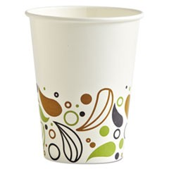 Deerfield Printed Paper Cold Cups, 12 oz, 20 Cups/Sleeve, 50 Sleeves/Carton