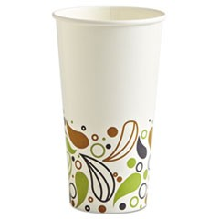 Deerfield Printed Paper Cold Cups, 20 oz, White/Yellow/Green/Purple
