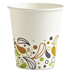 Deerfield Printed Paper Hot Cups, 10 oz, 1000/Carton