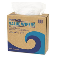 Boardwalk Drc Wipers, White, 9 X 16 1/2, 9 Dispensers Of 100, 900/Carton