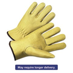4000 Series Pigskin Leather Driver Gloves, Beige, X-Large, 12 Pairs