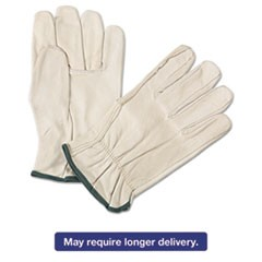 4000 Series Leather Driver Gloves, White, Medium, 12 Pairs