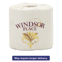 Windsor Place Premium Bathroom Tissue, 2-Ply, 3 3/4 x 4 1/10, 500/Roll, 80/Ctn
