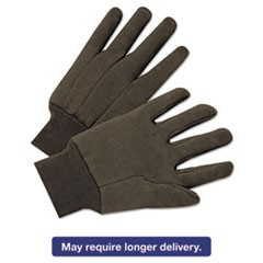 Jersey General Purpose Gloves, Brown, 12 Pairs