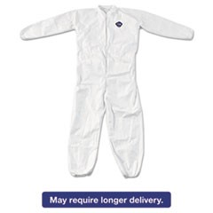 Tyvek Elastic-Cuff Coveralls, White, 4X-Large, 25/Carton