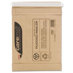 Caremail Rugged Padded Mailer, Side Seam, 8 1/2 x 10 3/4, Light Brown, 25/Carton