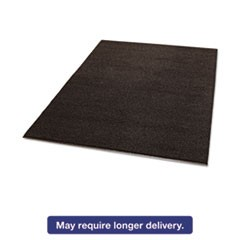 Spaghetti Vinyl-Loop Floor Mat, Vinyl, 48 x 72, Brown