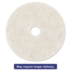 "Ultra High-Speed Natural Blend Floor Burnishing Pads 3300, 21"", White, 5/CT"