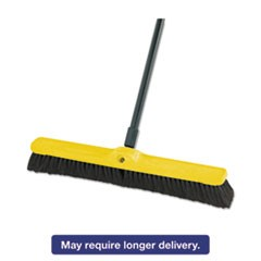 "Fine Floor Sweeper, Tampico/Horsehair, 24""Brush, 3""Bristles, Black, 12/Carton"