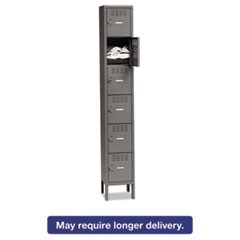 Box Compartments with Legs, Single Stack, 12w x 18d x 78h, Medium Gray