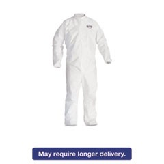 A30 Elastic-Back & Cuff Coveralls, White, Large, 25/Case