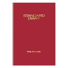 Standard Diary Recycled Daily Reminder, Red, 5 1/8 x 7 1/2, 2017