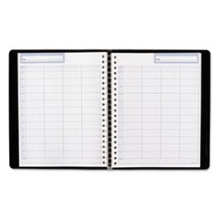 Undated Four-Person Group Daily Appointment Book, 10 3/4 x 8 1/2, Black, 2020