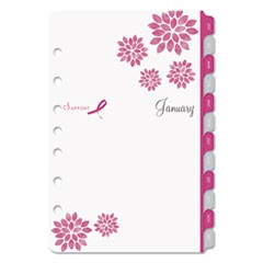 Pink Ribbon Two-Page-per-Week Organizer Refill, 8 1/2 x 5 1/2, 2020