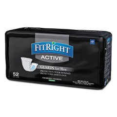 "1FitRight Active Male Guards, 6"" x 11"", White, 52/Pack, 4 Pack/Carton"