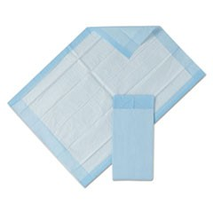 "1Protection Plus Disposable Underpads, 23"" x 36"", Blue, 25/Bag, 6 Bag/Carton"