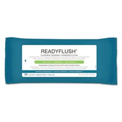 ReadyFlush Biodegradable Flushable Wipes, 8 x 12, 24/Pack, 24 Pack/Carton