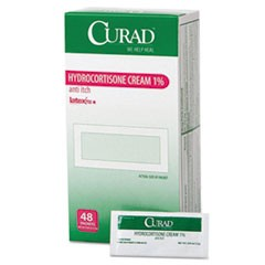 Hydrocortisone Cream, 0.007 oz Foil Packet, 48/Box